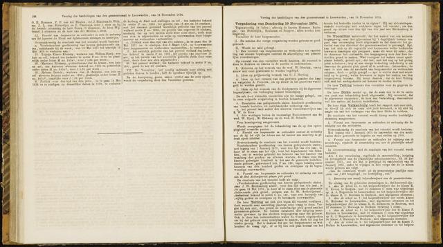 Raadsverslagen van de gemeente Leeuwarden, 1865-2007 (Notulen) 1874-11-19