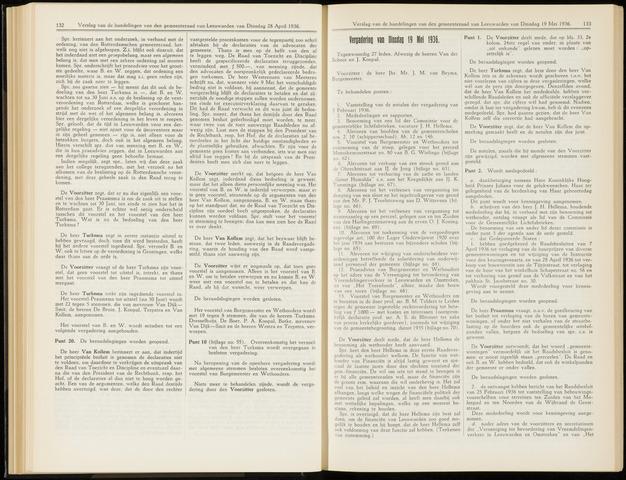Raadsverslagen van de gemeente Leeuwarden, 1865-2007 (Notulen) 1936-05-19