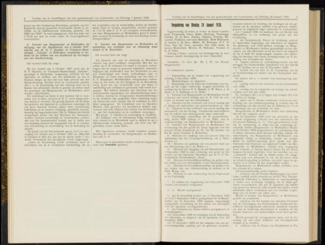 Raadsverslagen van de gemeente Leeuwarden, 1865-2007 (Notulen) 1930-01-28