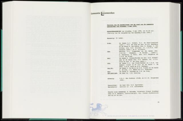 Raadsverslagen van de gemeente Leeuwarden, 1865-2007 (Notulen) 1995-05-09