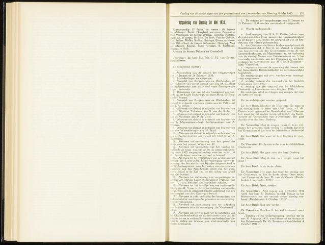 Raadsverslagen van de gemeente Leeuwarden, 1865-2007 (Notulen) 1933-05-30