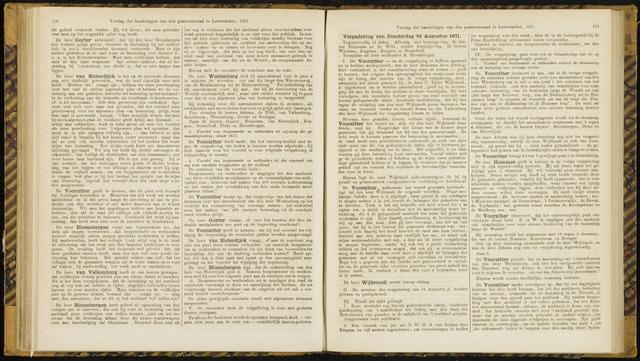 Raadsverslagen van de gemeente Leeuwarden, 1865-2007 (Notulen) 1871-08-24