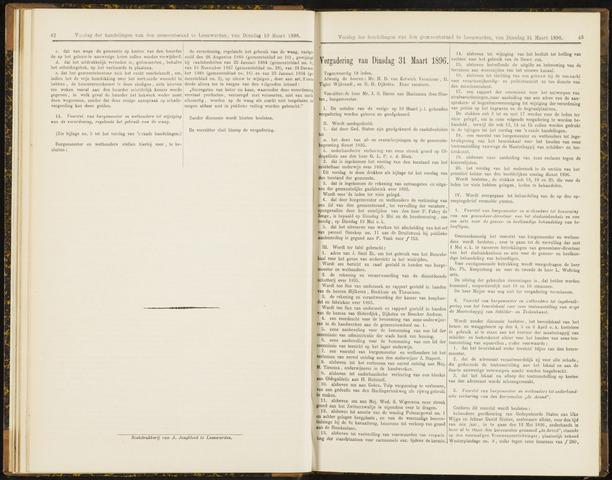 Raadsverslagen van de gemeente Leeuwarden, 1865-2007 (Notulen) 1896-03-31