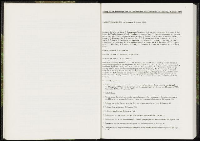 Raadsverslagen van de gemeente Leeuwarden, 1865-2007 (Notulen) 1979-01-08