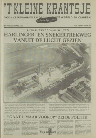 't Kleine Krantsje, 1964-1997 1984-09-22