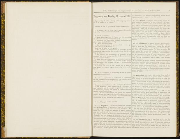 Raadsverslagen van de gemeente Leeuwarden, 1865-2007 (Notulen) 1891-01-27