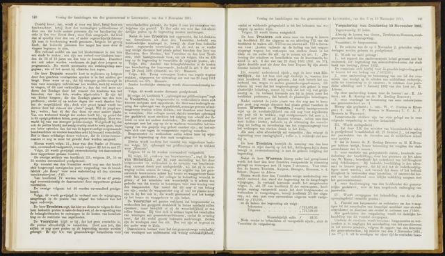 Raadsverslagen van de gemeente Leeuwarden, 1865-2007 (Notulen) 1881-10-11