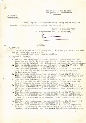 raadsverslagen Idaarderadeel 1935-1983 1952-12-15