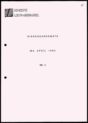 Notulen van de gemeenteraad van Leeuwarderadeel 1993-04-29