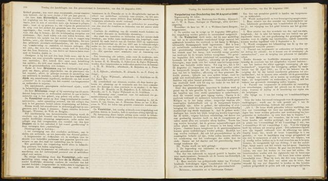 Raadsverslagen van de gemeente Leeuwarden, 1865-2007 (Notulen) 1880-08-26