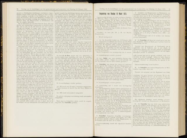 Raadsverslagen van de gemeente Leeuwarden, 1865-2007 (Notulen) 1925-03-10