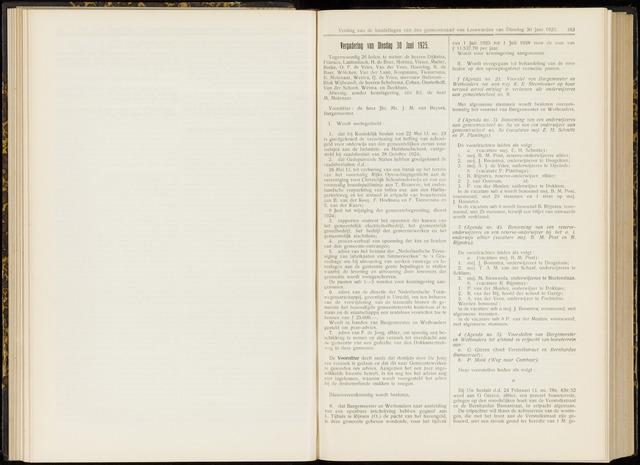 Raadsverslagen van de gemeente Leeuwarden, 1865-2007 (Notulen) 1925-06-30