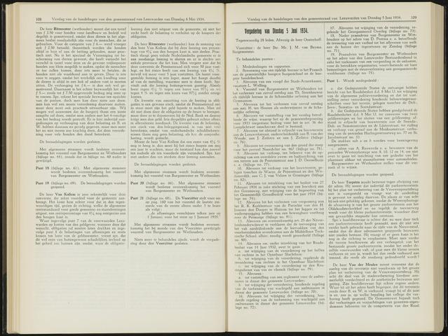 Raadsverslagen van de gemeente Leeuwarden, 1865-2007 (Notulen) 1934-06-05