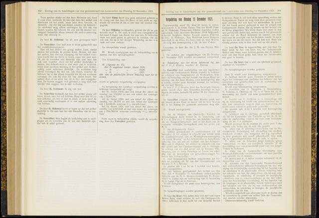 Raadsverslagen van de gemeente Leeuwarden, 1865-2007 (Notulen) 1921-12-13