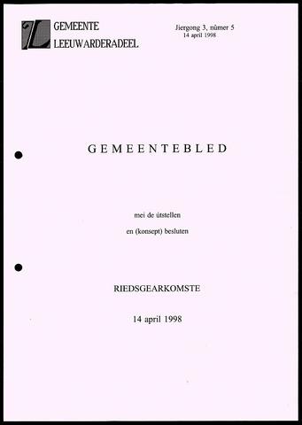 Notulen van de gemeenteraad van Leeuwarderadeel 1998-04-14