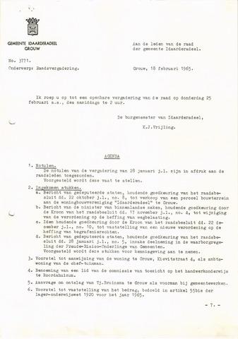 raadsverslagen Idaarderadeel 1935-1983 1965-02-25