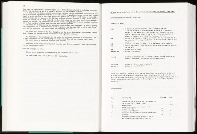 Raadsverslagen van de gemeente Leeuwarden, 1865-2007 (Notulen) 1988-05-09