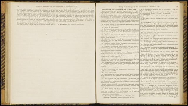 Raadsverslagen van de gemeente Leeuwarden, 1865-2007 (Notulen) 1871-07-13