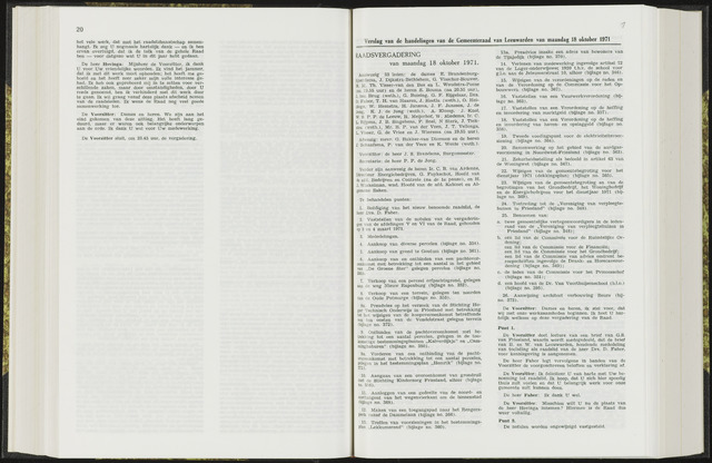 Raadsverslagen van de gemeente Leeuwarden, 1865-2007 (Notulen) 1971-10-18