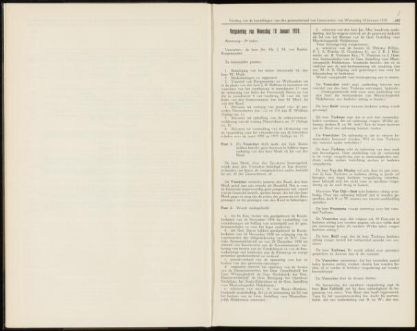 Raadsverslagen van de gemeente Leeuwarden, 1865-2007 (Notulen) 1939