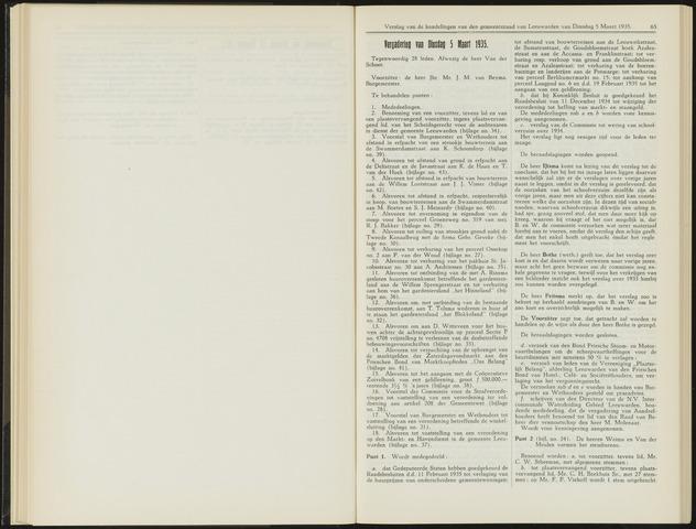 Raadsverslagen van de gemeente Leeuwarden, 1865-2007 (Notulen) 1935-03-05