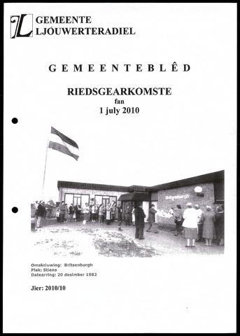 Notulen van de gemeenteraad van Leeuwarderadeel 2010-07-01