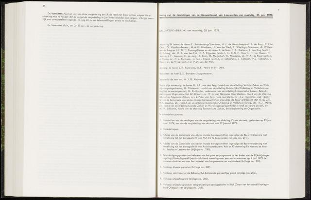 Raadsverslagen van de gemeente Leeuwarden, 1865-2007 (Notulen) 1979-06-25