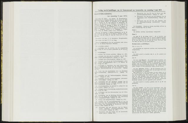 Raadsverslagen van de gemeente Leeuwarden, 1865-2007 (Notulen) 1972-06-05