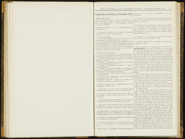 Raadsverslagen van de gemeente Leeuwarden, 1865-2007 (Notulen) 1893-12-12