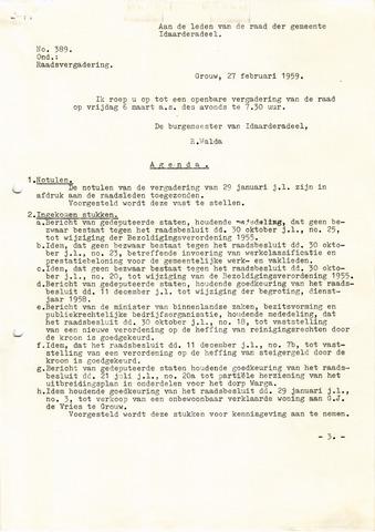 raadsverslagen Idaarderadeel 1935-1983 1959-03-06
