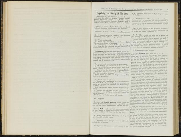 Raadsverslagen van de gemeente Leeuwarden, 1865-2007 (Notulen) 1905-05-16
