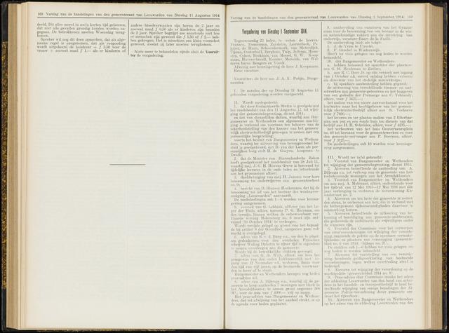 Raadsverslagen van de gemeente Leeuwarden, 1865-2007 (Notulen) 1914-09-01