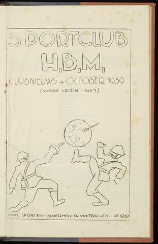 Sportclub H.B.M. Clubnieuws 1939-10-01