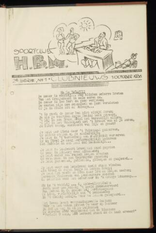 Sportclub H.B.M. Clubnieuws 1936-10-01