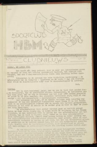 Sportclub H.B.M. Clubnieuws 1937-02-01