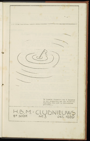 Sportclub H.B.M. Clubnieuws 1939-12-01