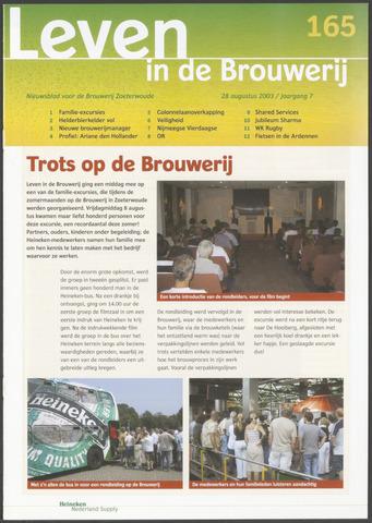 Heineken - Leven in de Brouwerij 2003-08-28