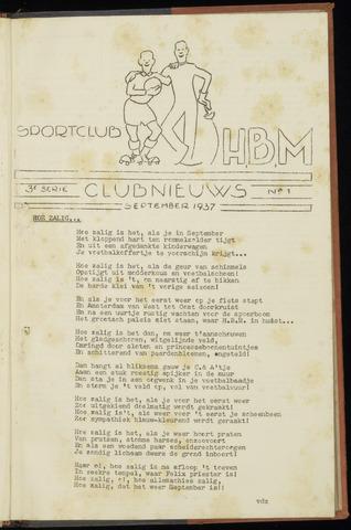 Sportclub H.B.M. Clubnieuws 1937-09-01