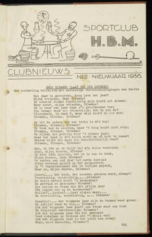Sportclub H.B.M. Clubnieuws 1936-01-01