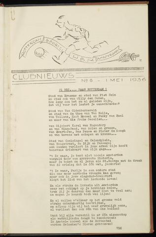 Sportclub H.B.M. Clubnieuws 1936-05-01