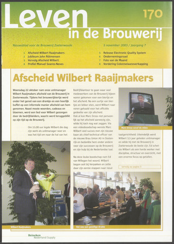Heineken - Leven in de Brouwerij 2003-11-05
