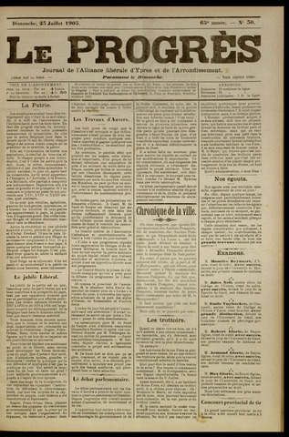 Le Progrès (1841-1914) 1905-07-23