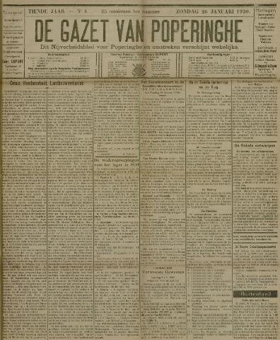 De Gazet van Poperinghe  (1921-1940) 1930-01-26