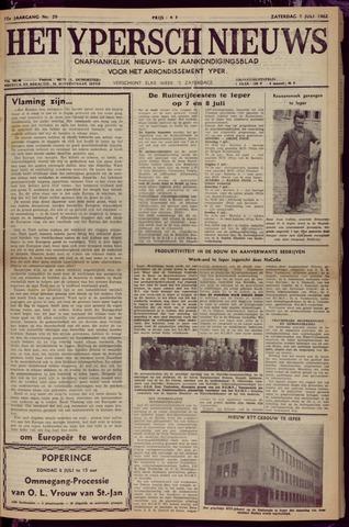 Het Ypersch nieuws (1929-1971) 1962-07-07
