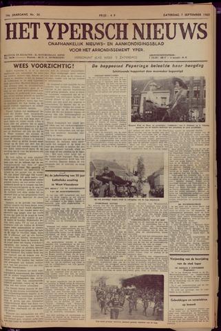 Het Ypersch nieuws (1929-1971) 1963-09-07