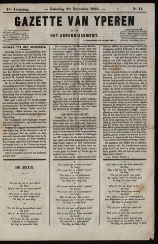 Gazette van Yperen (1857-1862) 1857-11-07