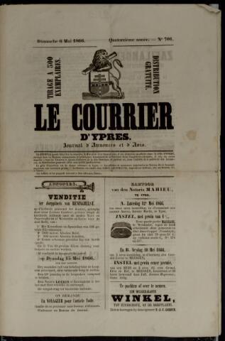 Le Courrier d'Ypres (1858, 1866, 1884 en 1911) 1866-05-06