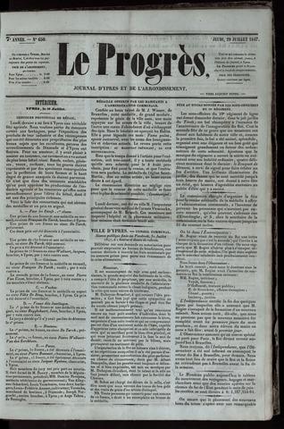 Le Progrès (1841-1914) 1847-07-29