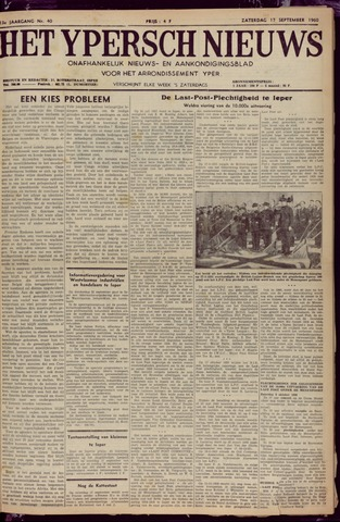 Het Ypersch nieuws (1929-1971) 1960-09-17