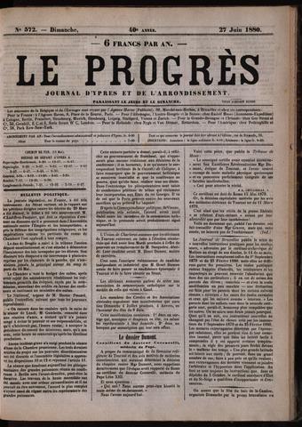 Le Progrès (1841-1914) 1880-06-27